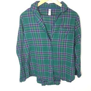 Gillian and O'Malley Pajama Flannel Set Sleepwear